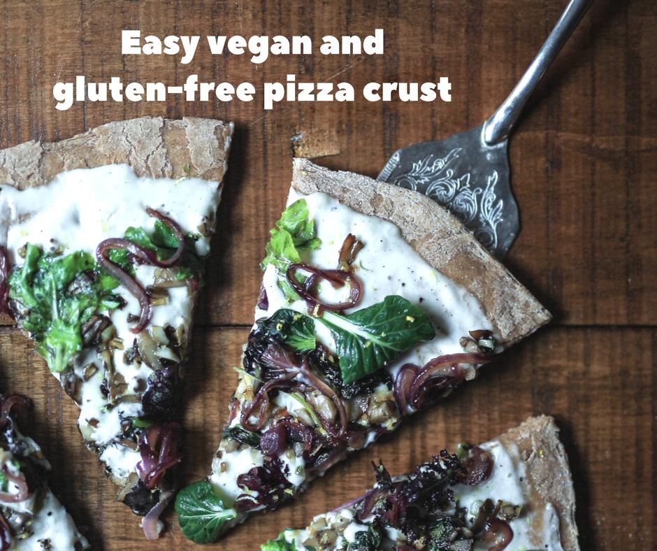 Easy vegan and gluten-free pizza crust