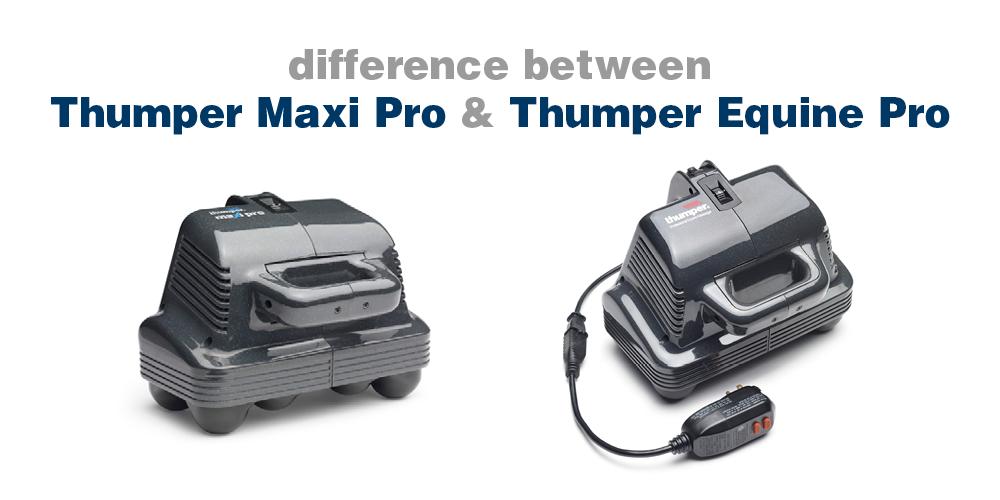 Thumper Maxi Pro & the Thumper Equine Pro