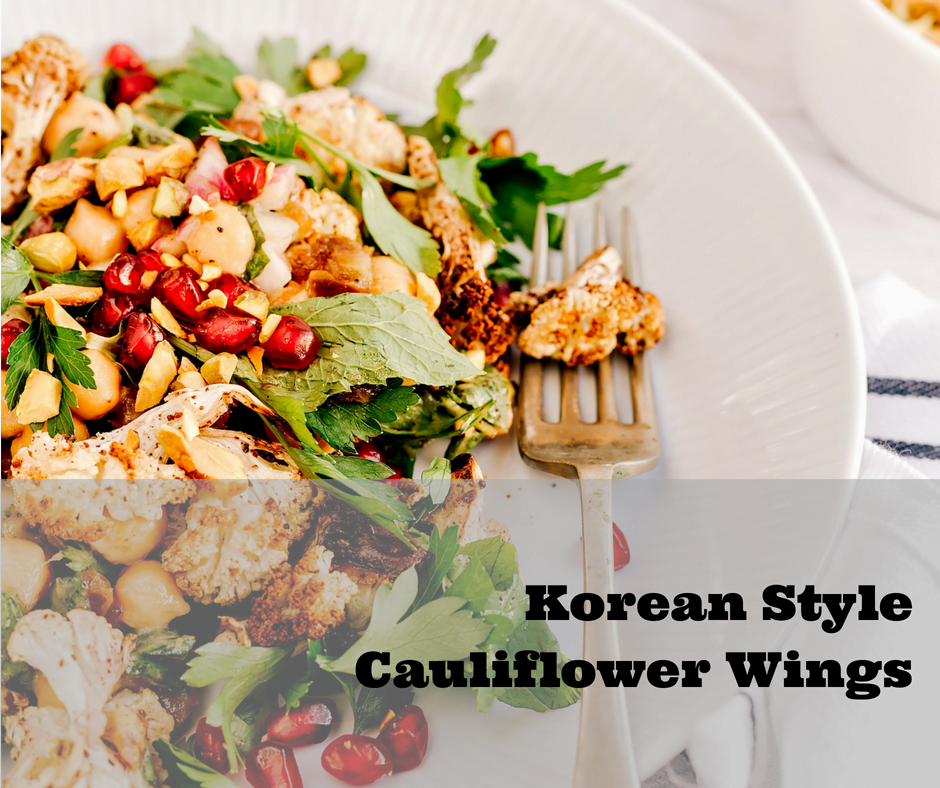 Korean Style Cauliflower Wings